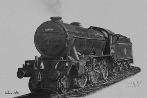 gresley-k3-class in pencil