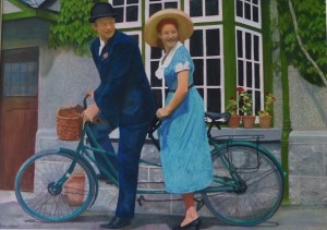 A scene from the quiet man